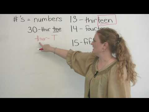 English Pronunciation - How to pronounce numbers