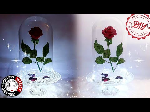 beauty-and-the-beast-enchanted-rose-diy,-disney-diy-crafts-&-room-decor,-valentines-centerpieces-diy