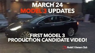 First video of Model 3 production candidate | Model 3 Owners Club