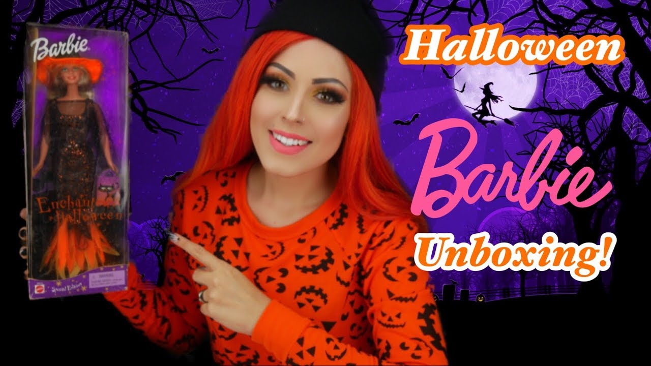 halloween with 2000 enchanted barbie review! - youtube