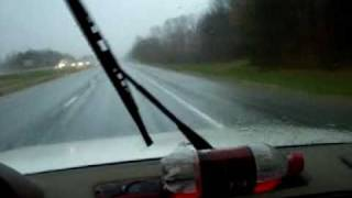 1995 Land Rover Discovery 5-speed driven through heavy storms