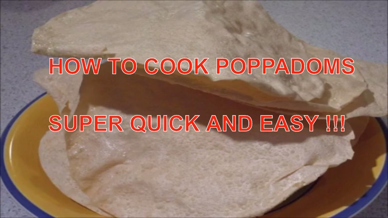 how to cook poppadoms in the microwave