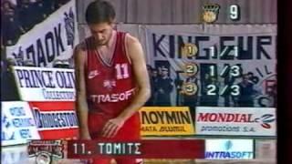 PAOK vs Olympiakos 48-57 Greek League 1993 SF