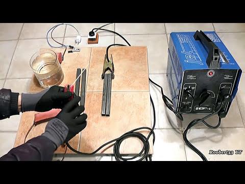 Test electric welding machine VS water welding machine