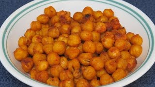 Toasted Garbanzo Beans Or Chickpeas~healthy Toaster Oven Snack Recipe