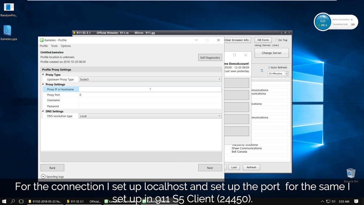 Kameleo v1 3, Built in proxy management, Socks5 911 re, 100% anonymity