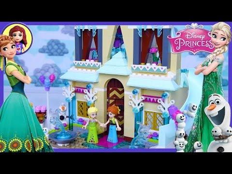 Lego Frozen Fever Arendelle Celebration Castle Disney Princess Build Review Play - Kids Toys