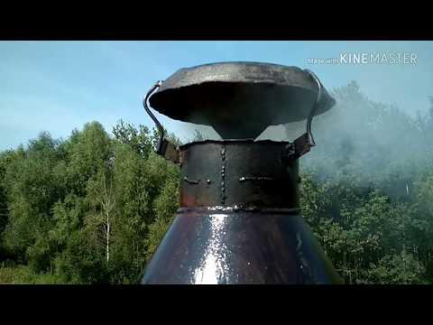 Замена асбестовой трубы на дымоходе.