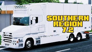 ETS2 1.31 Southern Region 7.2 RJL Scania T (Piva Weather 5.0 + Reshade JBX Realist Ligthing)
