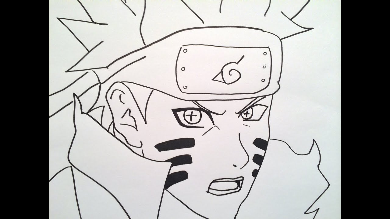 How to draw Naruto Shippuden.うずまきナルト描き方. - YouTube