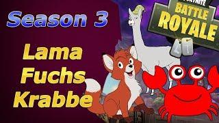 Fortnite Fuchs, Krabbe & Lama Fundorte für den Battlepass Season 3 Fox Crab Lama Battle Royal
