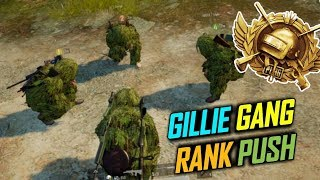 PUBG MOBILE GHILLIE GANG RANK PUSH TO CONQUEROR LETS GO