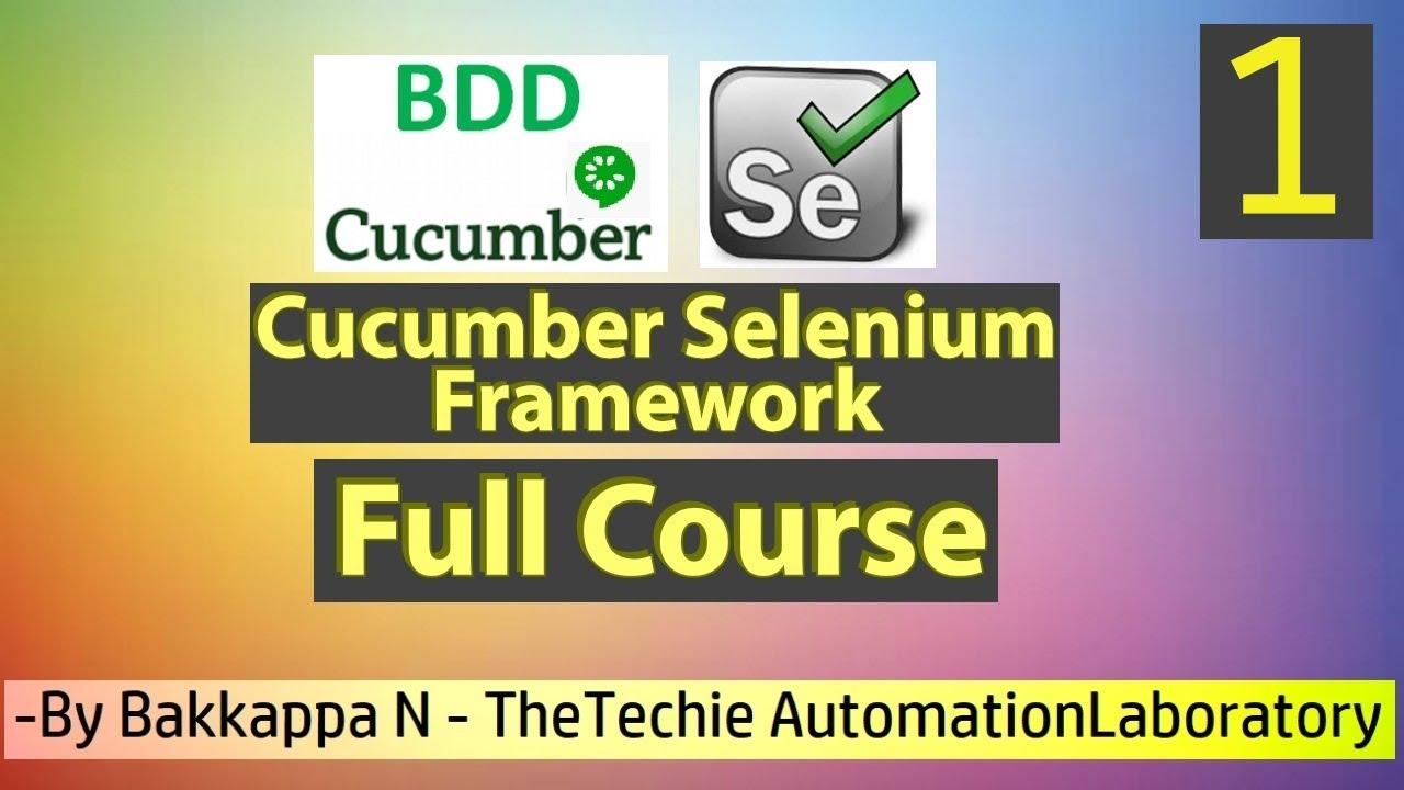 Download Cucumber BDD Framework Full Course by Bakkappa N