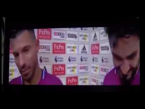 Aguero's English in 2017 (Post-match w/ Gundogan)