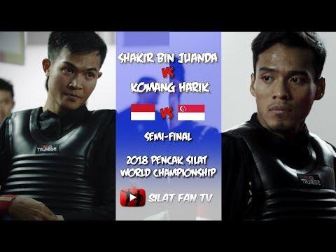 Shakir Bin Juanda V Komang Harik | Singapore V Indonesia | 2018 Pencak Silat World Championships