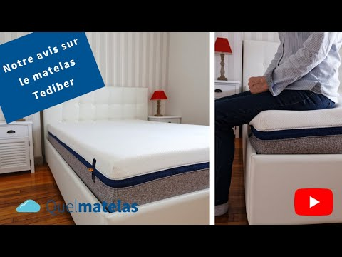 test et avis sur le matelas tediber 2018 youtube. Black Bedroom Furniture Sets. Home Design Ideas