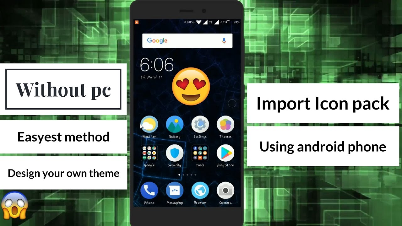 Google themes create your own - How To Create Your Own Miui Theme Using Your Android Phone