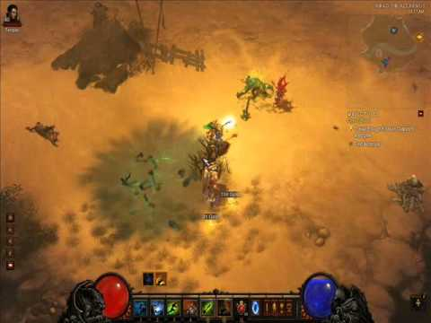 Diablo 3: Templar and witch doctor killing Shatterbone [Acolyte of Torment] (inferno difficulty)