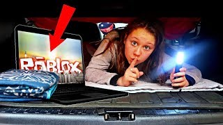 I Played Roblox for 24 Hours in my Dads Car And He Got Mad - Challenge