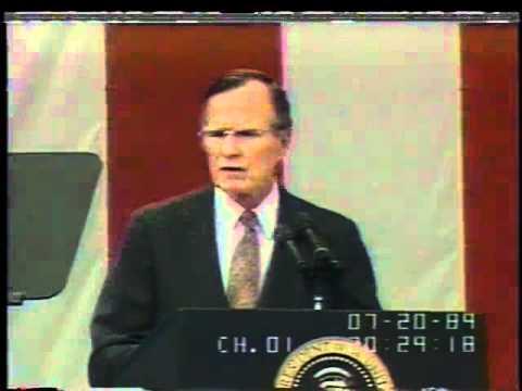George H.W. Bush Announces the Space Exploration Initiative, July 20, 1989