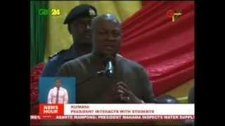 President Mahama Addresses KNUST Students