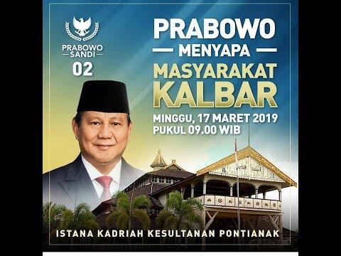 Prabowo Menyapa Warga Kalimantan Barat