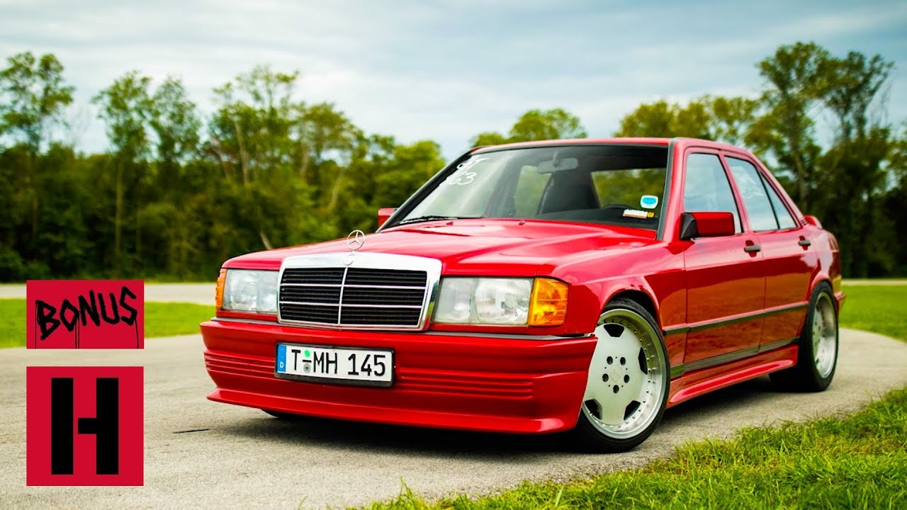 Here's a Good Idea: Swap a 500 Horsepower Turbo V8 Into a Mercedes 190E