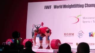 Ruslan Nurudinov snatch and c&j in WWC 2013 Poland