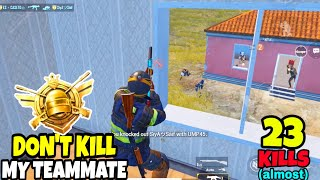 They Tried To Kill My Teammate And This Happened in PUBG Mobile • (ALMOST 23 KILLS) • PUBGM HINDI.