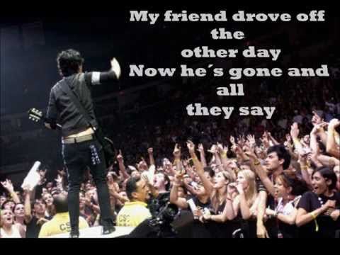 Green Day-J.A.R (live) Lyrics