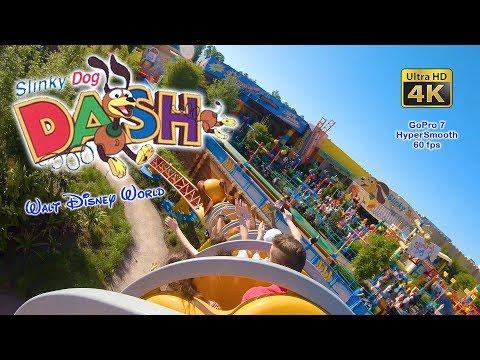 2019 Slinky Dog Dash On Ride Ultra HD 4K POV GoPro 7 HyperSmooth Walt Disney World Hollywood Studios