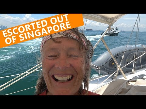 SAILING THE SINGAPORE STRAIT!  Ep 80