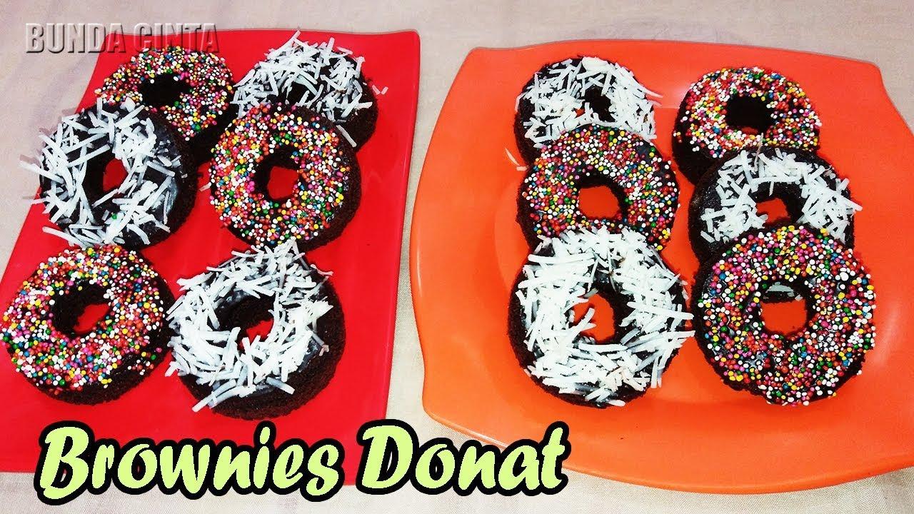 donut brownies resepi hybrid art Resepi Kek Coklat Topping Nutella Enak dan Mudah