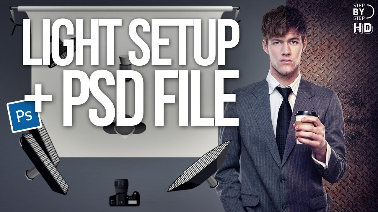 photoshop cs6 tutorial light setup psd file youtube rh youtube com BMW PSD PSD Anime Couple