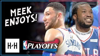 Ben Simmons Full Game 5 Highlights vs Heat 2018 Playoffs - 14 Pts, 10 Reb, Meek Mill Watching!