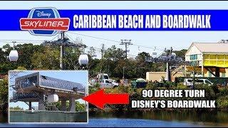 Disney Skyliner Gondola Storage Testing Caribbean Beach and Boardwalk Resort