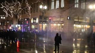 Police deploy flash-bang grenades, pepper spray balls and gas during Portland protest