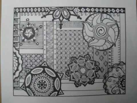 Zendoodle Step By Step Youtube