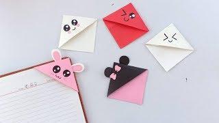 Diy Origami Kawaii Bookmark // Easy Bookmark Idea