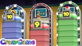 Mario Party 9 Step It Up - Kamek v Daisy v Toad Player Master Difficult | CRAZYGAMINGHUB
