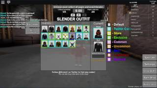 Roblox: Stop it, Slender! 2 codes july 2016
