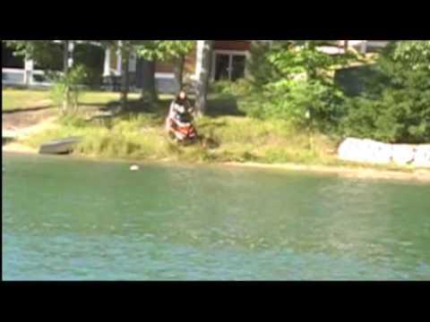 Snowmobiling across Dixon Lake Gaylord, Mi