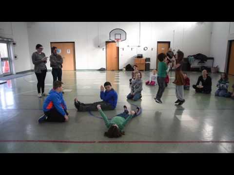 Feb. 11, 2017: Beloit College dancers at Rock Prairie Montessori