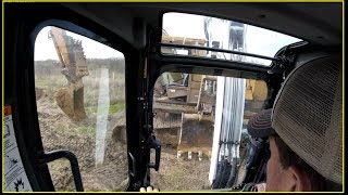 Re setting an Excavator Steel track in the field 04 21 18