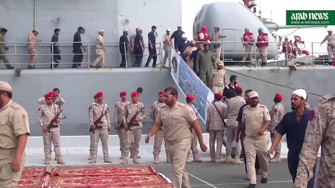 Saudi frigate hit by Houthi terror attack returns to Jeddah base