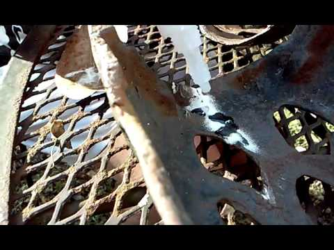 Fixing Antique Metal Owl(4)