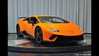 Lamborghini Huracan Performante ANGRY MATT ORANGE BULL Start Up Drive and MAGIC at Lamborghini Miami