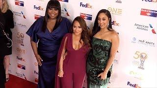 Loni Love, Adrienne Bailon, Tamera Mowry 50th NAACP Image Awards Non-Televised Dinner