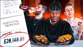 SIDEMEN WORLDS MOST EXPENSIVE MUKBANG