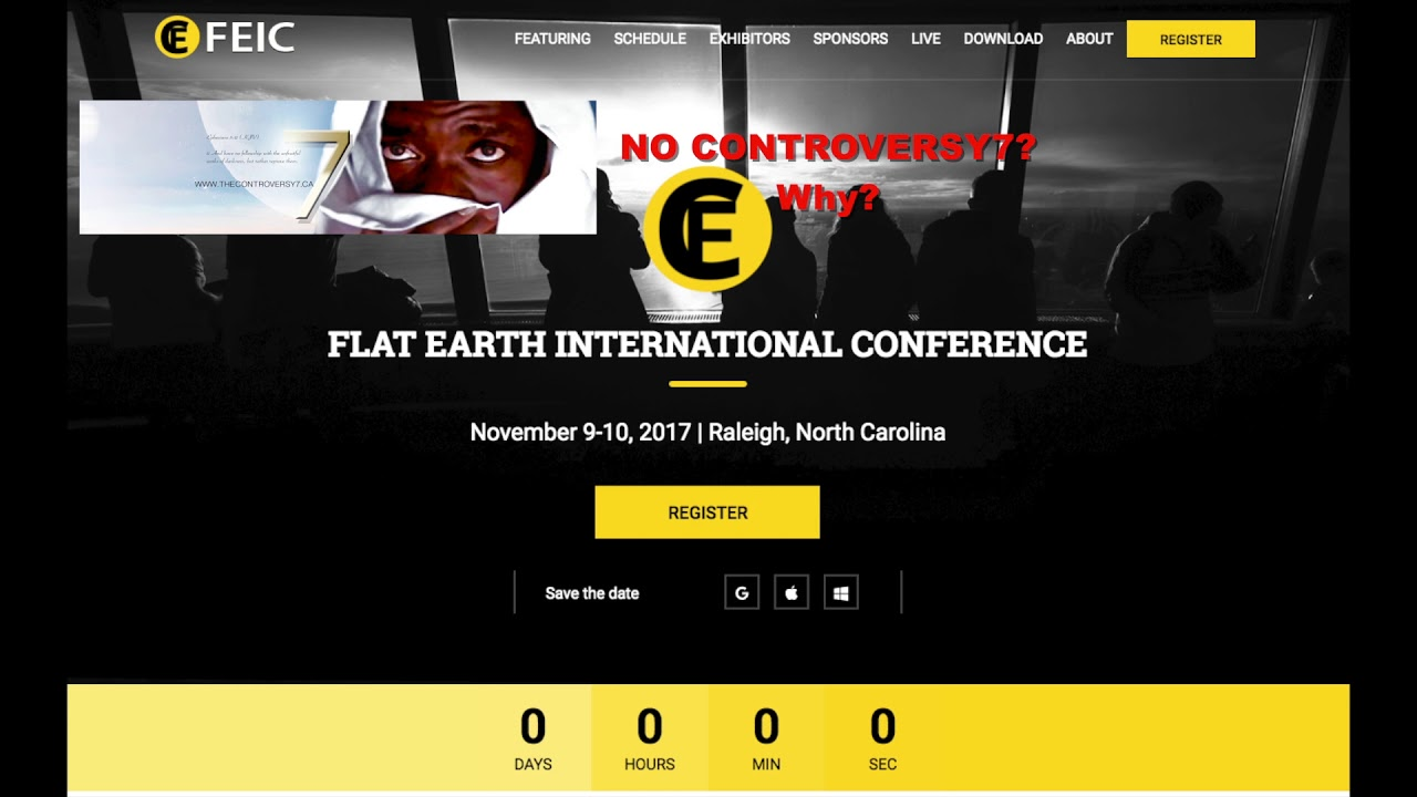 FEIC 2017 - Why I did not make it to North Carolina FLAT EARTH Conference 2017